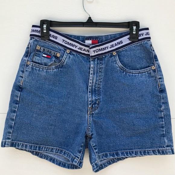f5d0bc98f Tommy Hilfiger Shorts | Vintage High Waist Denim Mom | Poshmark